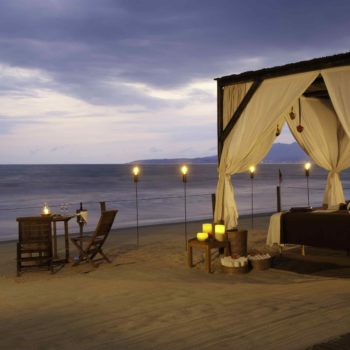 Romantic Scene on the beach in mexico
